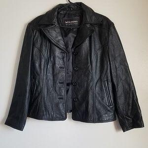 Wilson's Black Genuine Leather XL jacket